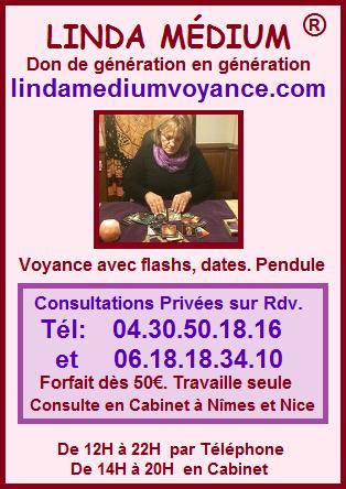 Linda Médium Voyance par Téléphone, Voyance en Cabinet Nîmes Nice